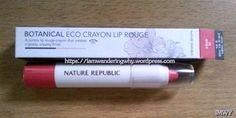 Nature Republic Botanical Eco CrayonLip  Rouge #naturerepublic #naturerepublicbotanicalecoliprouge #koreanmakeup  https://iamwanderingwhy.wordpress.com/2016/02/23/nature-republic-botanical-eco-crayon-lip-rouge-short-review/
