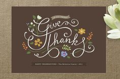 In All Things Thanksgiving Cards by Jennifer Wick at minted.com. I like the idea of sending yearly thanksgiving cards instead of Christmas cards.