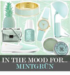 Mintgrün - Anstrich in Pastell: ein frischer Ton, der Farbe in Garderobe und Wohnung bringt – mit cleanen Mode- und Livingstücken