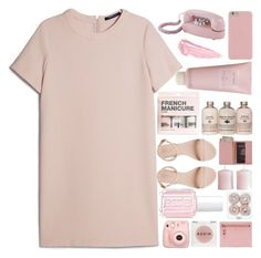 """Untitled #73"" by kazuichi ❤ liked on Polyvore featuring MANGO, Royce Leather, H&M, Rodin Olio Lusso, Tom Ford, Essie, Chantecaille, Dot & Bo, By Terry and Pink"