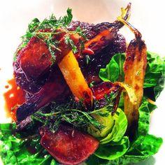 Jonny Mills @jonnyhmills  Yubby braised beef cheek,crispy tongue,celeriac,sprout top, rainbow carrots JAN/FEB