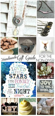 A Handmade Gift Guide for the non-DIYer.  Twelve of the best places to buy handmade goods this season (when you don't have the time or energy to DIY!)