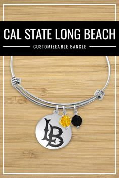 College Jewelry California State University Long Beach 49ers Rings Stainless Steel 8MM Wide Ring Band
