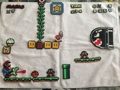 New Screen of Super Mario Perler & Hama Beads