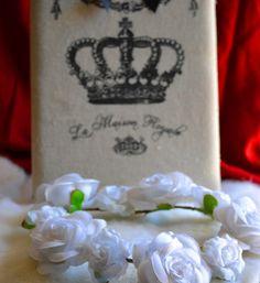 Headband rosas brancas