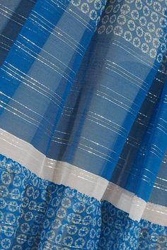 Stella McCartney - Elsa Tiered Printed Silk-blend Chiffon Maxi Skirt - Blue - IT40
