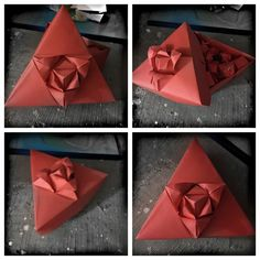 Triangular Rose Box.