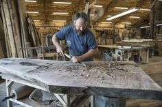 David Stine, wood worker, in his shop on his farm in Dow, IL., August 27, 2015. ©Mannie Garcia 2015