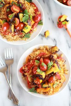 Jerk Chicken with Fired Rice and Grilled Pineapple Salsa http://www.halfbakedharvest.com/