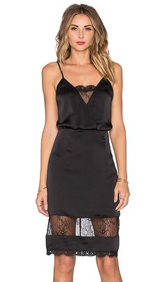 Lovers + Friends x REVOLVE Lacey Slip Dress in Black | REVOLVE