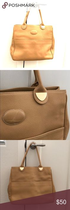 Lederer Of Paris Tan Leather Handbag