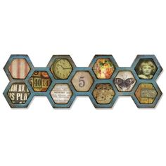 Honeycomb - Frameworks Border Die By Tim Holtz [659430TH] - $15.99 : Crop Stop!,