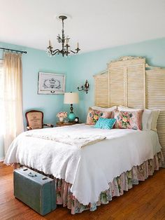 Inspirational and Cheap DIY Headboard Ideas. That headboard is amazing.