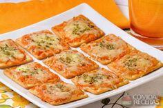 Receita de Mini pizza - Comida e Receitas