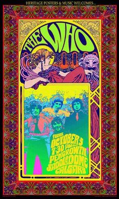 vintage rock and roll concert posters 676 Rock Posters, Band Posters, Movie Posters, Kunst Poster, Poster Art, Gig Poster, Psychedelic Rock, Psychedelic Posters, Vintage Concert Posters