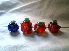 Clear pumpkin beads $5 each