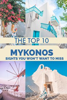 The top Mykonos sights you won't want to miss! - 10 of the best sights i Mykonos! These are absolute must see places while in Mykonos. Cool Places To Visit, Places To Travel, Oh The Places You'll Go, Travel Destinations, Greece Vacation, Greece Travel, Greece Trip, Crete Greece, Athens Greece