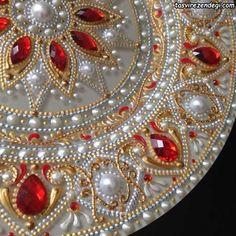 1 million+ Stunning Free Images to Use Anywhere Mandala Painting, Dot Painting, Cd Art, Indian Crafts, Free To Use Images, Mandala Dots, Plate Art, Plate Design, Rangoli Designs