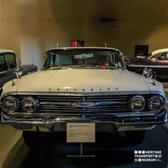 A 1960 Chevrolet Impala Hardtop Sedan! This car was amongst the ones that began the era of Muscle cars! #musclecars #chevrolet #impala #vintagecars #transportmuseum #heritagetransportmuseum