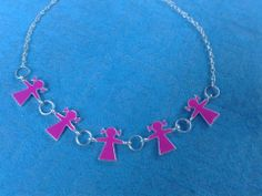Girly Pink Necklace Email shenbettridge@gmail.com