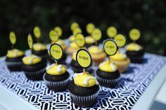 cute cupcakes in Venus William party by andersruff.com