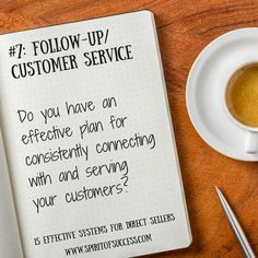 15 systems every Direct Seller needs in order to stay organized and to be highly-effective in their business. #7: Follow-Up/Customer Service