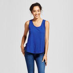 Women's Slub Tank - Merona Uniform Blue Xxl