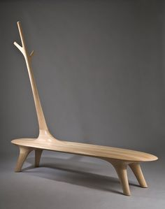 Korean designer Kwon Jae Min has created a series of wooden pieces that include benches, lighting and coat racks - #bench #furniture #seating