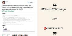 #gratisNOtrabajo y la precariedad laboral del periodismo post de @EsthervPlaza en @TheTopicTrend