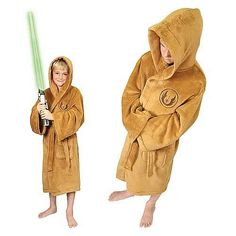 Star Wars Jedi Kids Bathrobe - Large - A must have bathrobe for the hard-working Padawan