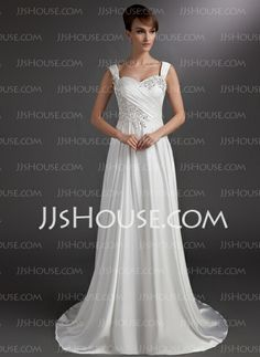 Wedding Dresses - $169.99 - A-Line/Princess Sweetheart Court Train Charmeuse Wedding Dress With Ruffle Lace Beadwork (002016735) http://jjshouse.com/A-Line-Princess-Sweetheart-Court-Train-Charmeuse-Wedding-Dress-With-Ruffle-Lace-Beadwork-002016735-g16735