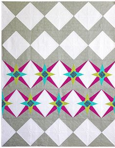 "Delightfully fun ""Chevron Star"" Quilt by Lee Heinrich of Freshly Pieced. Pattern available here: http://freshlypieced.bigcartel.com/product/chevron-star-pdf-pattern"