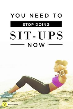 Can sit-ups really help you get that chiselled six pack? Well, not really. Hard to believe? Sit-ups aren't the best exercise for #abs. #fitness