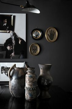 Black Is the New White: Dramatic French Home In Dark Shades | DigsDigs