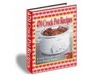 470 Crock Pot Recipes. Download free at TubaLoad.com If your life is busy, you know that there are many times when you just don't feel like cooking a dinner in the evening. In this ebook you will find tasty main dishes, side dishes and even deserts that can be prepared in your crock pot.