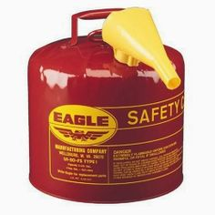 Eagle UI-50-FS Red Galvanized Steel Type I Gasoline Safety Can with Funnel, 5 gallon Capacity, 13.5. 5 Gallon, Type l, Safety Gasoline Can With F-15 Funnel, Heavy Gauge Steel, Sturdy Bottom Rim & Carrying Handle, Patented Comfort Grip Trigger Release, Brass Pour Spout & Flame Arrestor, UL, ULC, & FM …