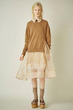 オーガンジースカート付きニット ミュベール/MUVEIL