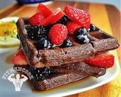 Dark Chocolate Gluten-free Protein Waffles. Morning Nutrition: 7 Muscle-Building Breakfasts. Bodybuilding.com