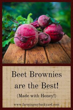 We're all supposed to eat more fruits and vegetables but what we really want are brownies! Have the best of both worlds, and make beet brownies.