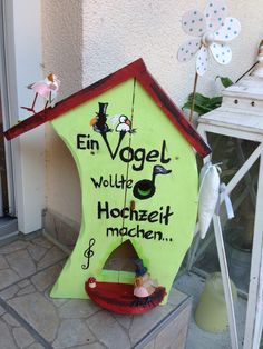 Vogelhaus zur Hochzeit von Anita & Bernd