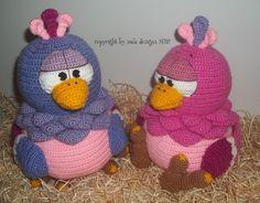 odd birds, crochet pattern