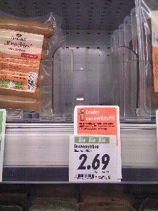 Homeveganer: Vegane Bratwurst ausverkauft