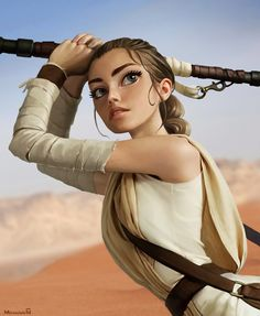 Rey by Andrew Mironishin Rey Cosplay, Star Wars Concept Art, Star Wars Fan Art, Rey Star Wars, Star Trek, Cuadros Star Wars, Star Wars Drawings, Star Wars Girls, Star Wars Images