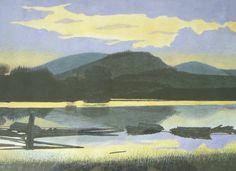 blaue Stunde am Fjord, U. Kretschmer