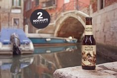 Beer on the Canal Mockup 3 by Pere Esquerrà on @creativemarket