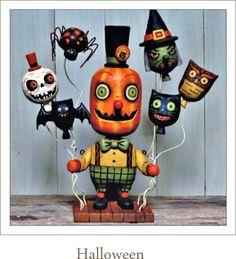 greg gundel folk art halloween decor