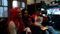 Bladerunner interviewing the Butcher Babies on the Bladerunner mobile studio tour bus. Yeah, we ROCK!
