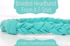 DIY Braided Headband From a T-Shirt