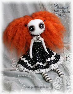 Gothic art doll with button eyes (small) Saffron Star by Strange Little Girls #ButtonEyes #GothicDoll