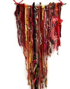 Bohemian Wall Tapestry, Fiber Art, 2d, Macrame, College, Boho, Wall Art, Fabric, Crafts